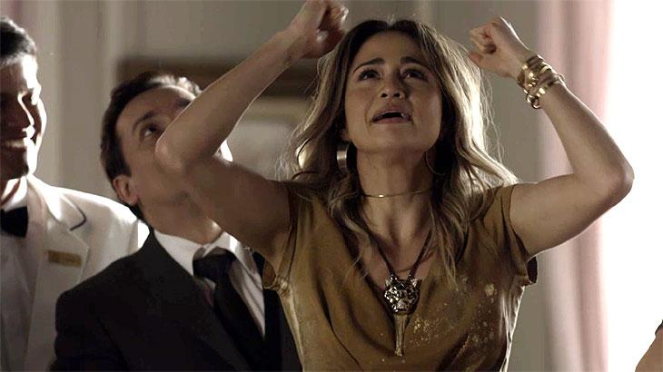 """Sandra Helena em """"Pega Pega"""". (Foto: Reprodução/TV Globo)"""