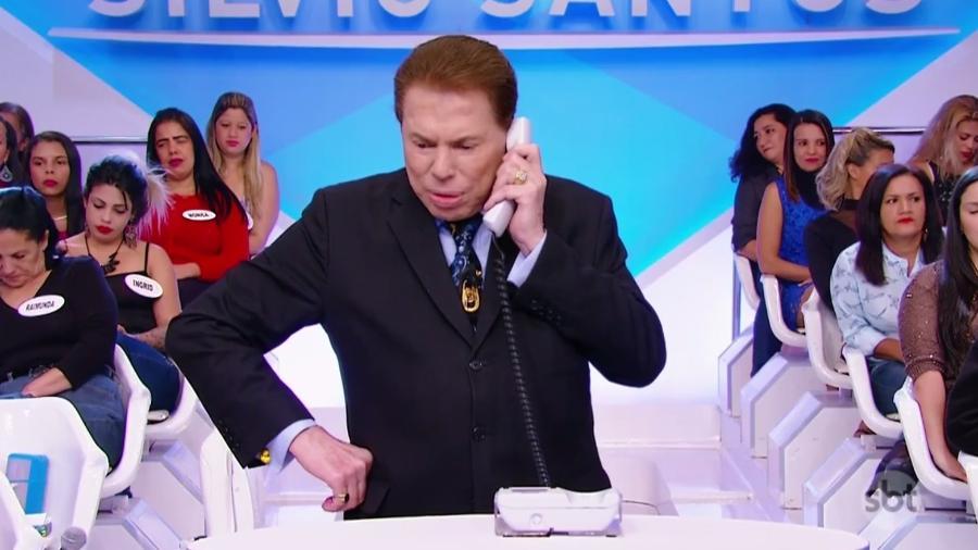 Silvio Santos à frente de seu programa no SBT (Foto: Divulgação/SBT)