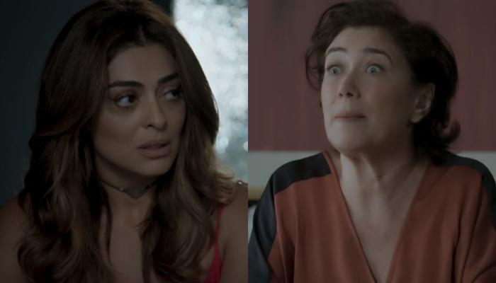 """Bibi (Juliana Paes) e Silvana (Lilia Cabral) em cenas de """"A Força do Querer"""" (Foto: Reprodução/Globo)"""
