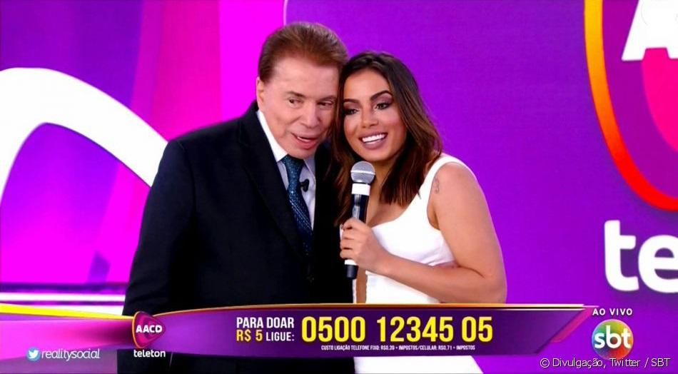 Silvio Santos com Anitta (Foto: Reprodução)