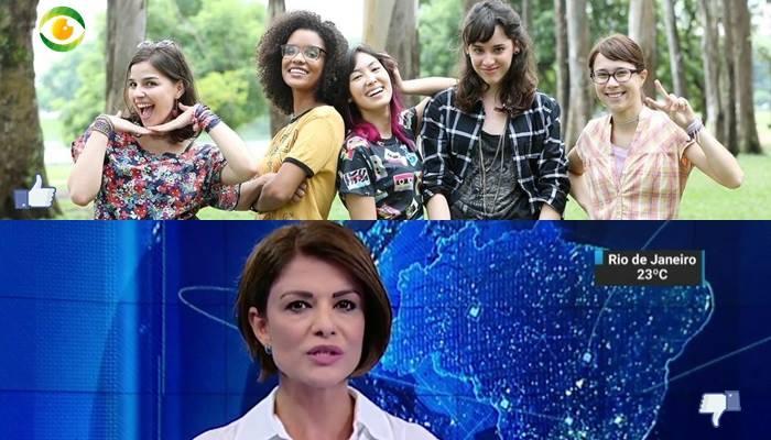 """""""Malhação"""" e """"SBT Notícias"""" estão no """"Subiu, desceu"""" de hoje."""