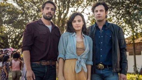 Rafael Cardoso, Bianca Bin e Sergio Guizé em O Outro Lado do Paraíso (Foto: Divulgação/Globo)