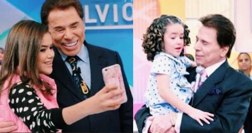 Maisa e Silvio Santos: hoje e ontem (Foto: Reprodução)