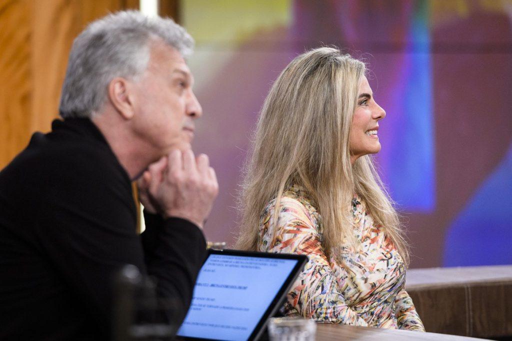 A atriz Bruna Lombardi no Conversa com Bial (Foto: Divulgação)