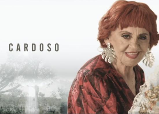 """Laura Cardoso em chamada de elenco de """"O Outro Lado do Paraíso"""" (Foto: Reprodução/Globo)"""