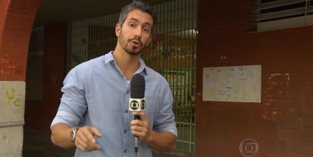 O repórter Danilo Vieira. (Foto: Reprodução/Globo)