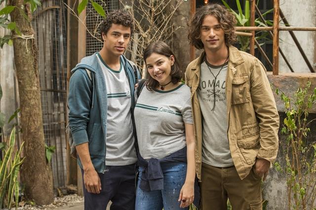 Tato (Matheus Abreu), Keyla (Gabriela Medvedovski) e Deco (Pablo Morais) (Foto: Globo/Cesar Alves)