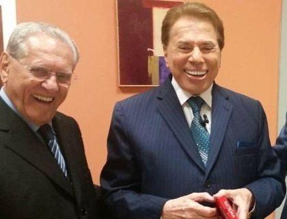 Silvio Santos e Joseval Peixoto (Foto: Reprodução)