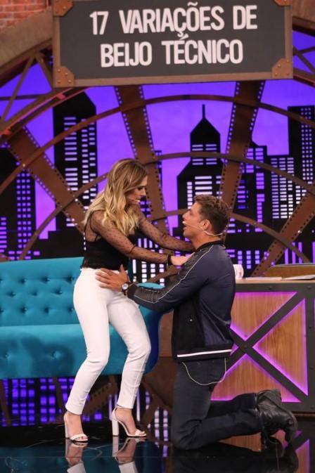 """Tatá Werneck beija Cauã Reymond no """"Lady bight"""" Foto: Gianne Carvalho/Multishow/Divulgação"""