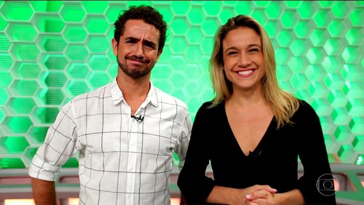 """Felipe Andreoli e Fernanda Gentil comandam o """"Esporte Espetacular"""". (Foto: Reprodução)"""