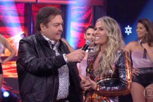 """Adriane Galisteu no """"Domingão"""". (Foto: Reprodução/TV Globo)"""