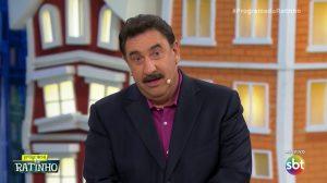 O apresentador Ratinho em seu programa no SBT (Foto: Reprodução/SBT)