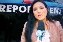 A repórter Márcia Dantas, do SBT, atacada durante reportagem (Foto: Reprodução/SBT)