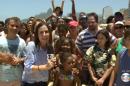 A repórter Susana Naspolini durante link ao vivo do RJTV (Foto: Reprodução/Globo)