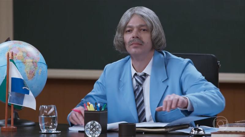 Bruno Mazzeo (Professor Raimundo) na estreia da 3ª temporada da Escolinha (Foto: Reprodução/Globo)