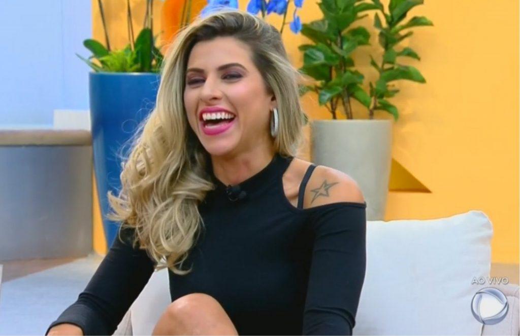 """Ana Paula Minerato no """"Hoje em Dia"""" (Foto reprodução)"""