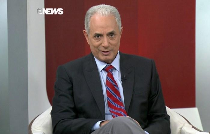 Waack em seu antigo programa na Globo News. (Foto: Reprodução)