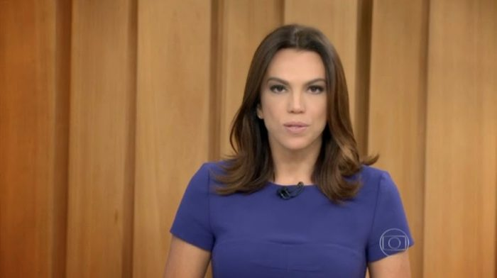 A apresentadora Ana Paula Araújo no Bom Dia Brasil (Foto: Reprodução/Globo)