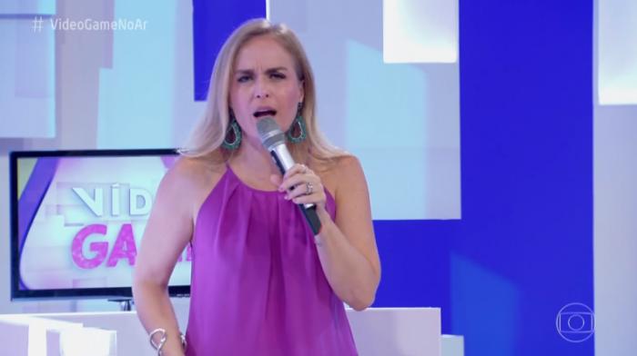 Angélica no Vídeo Game. da Globo (Foto: Reprodução)