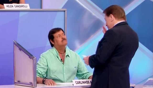 Silvio Santos e Carlinhos Aguiar