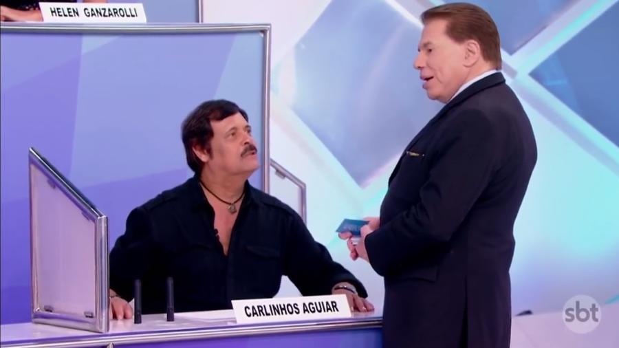 Carlinhos Aguiar e Silvio Santos (Foto: Reprodução)