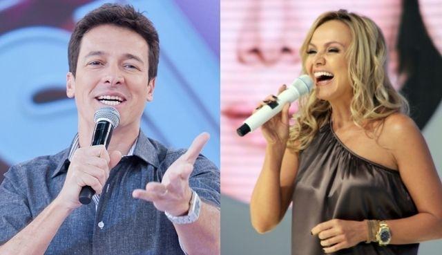 Eliana e Rodrigo Faro disputam a preferência do público (Foto: Montagem/Divulgação)