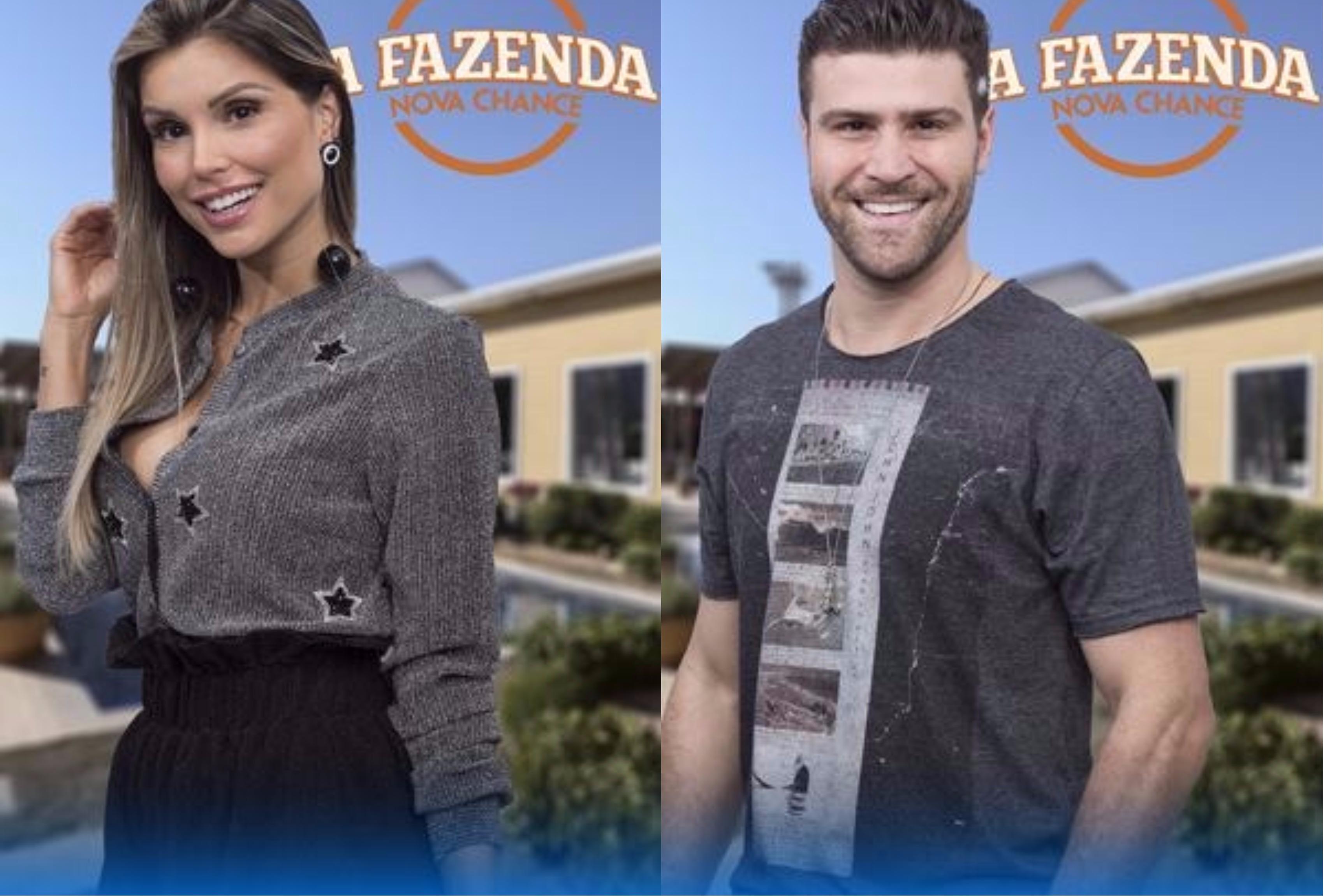 Flavia Vianna e Marcelo Ié Ié disputam permanência na Fazenda (Foto montagem: TV Foco)