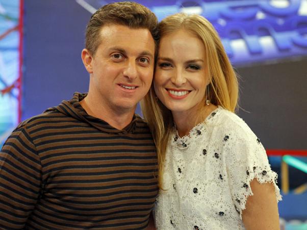 Luciano Huck e Angélica na Globo (Foto: Divulgação)