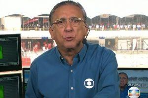 Galvao Bueno. Foto do site da O TV Foco que mostra Com F1 em baixa e sem pilotos brasileiros, Globo pode tomar decisão importante sobre Galvão Bueno