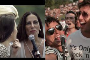 Globo é acusada de plagiar vídeo de fãs em homenagem à banda americana. (Foto: Montagem/Reprodução/YouTube)