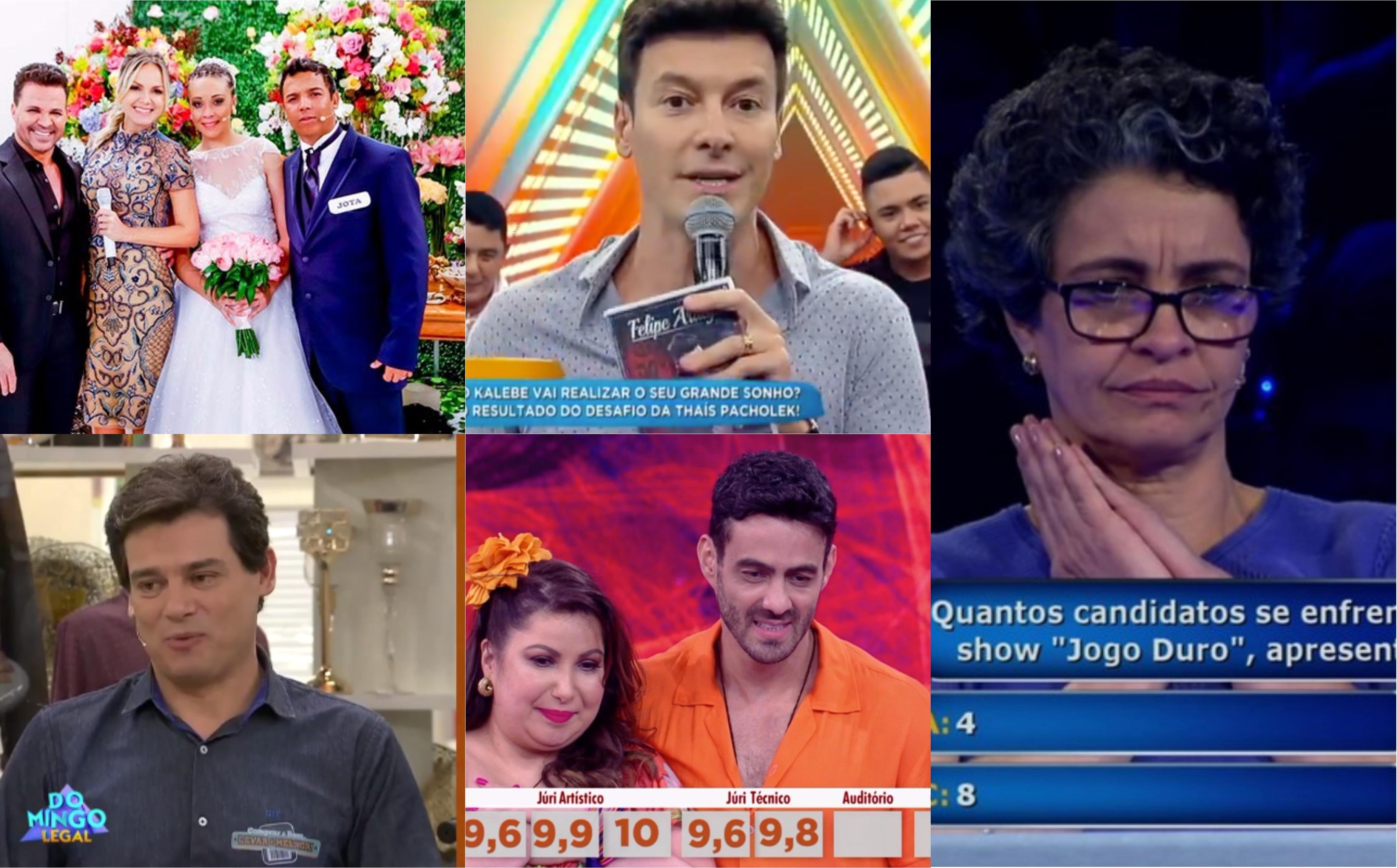 Eliana, Faro, Luciano Huck e muito mais; veja tudo que rolou no fim de semana (Foto montagem: TV Foco)