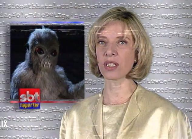 Reportagem clássica do SBT Repórter sobre o Chupa Cabra que foi relembrada no especial do Netflix (Foto: Reprodução)