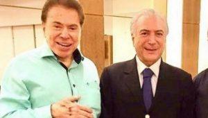 Temer e Silvio Santos, dono do SBT, no cabeleireiro (Foto: Reprodução)