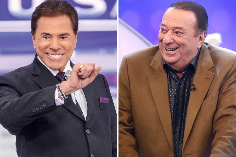 Silvio Santos e Raul Gil (Foto: Reprodução)