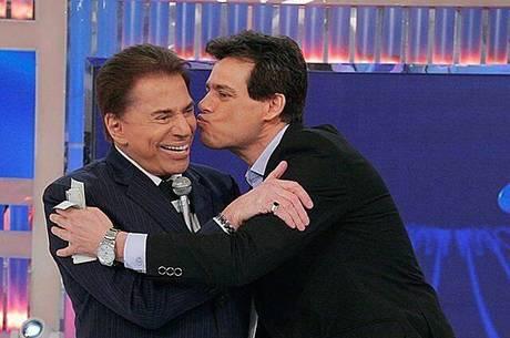 Silvio Santos e Celso Portiolli no SBT (Foto divulgação)