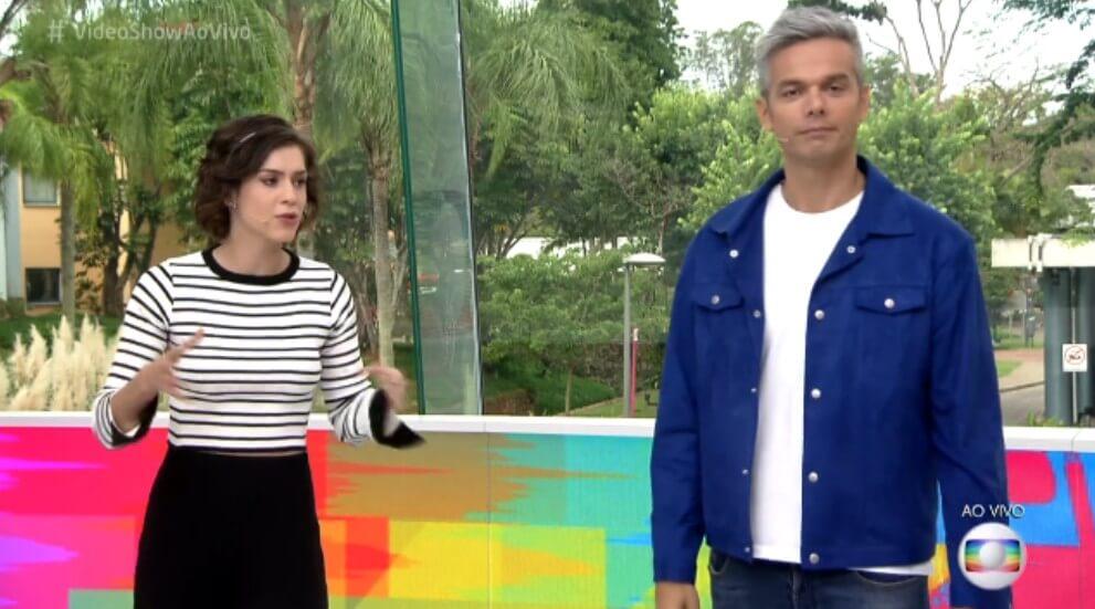 Os apresentadores Otaviano Costa e Sophia Abrahão. (Foto: Reprodução/Globo)