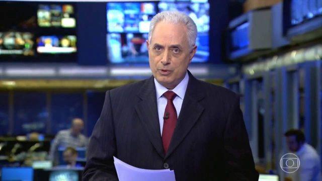 O jornalista William Waack segue afastado da Globo. (Foto: Reprodução/Globo)