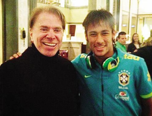 Silvio Santos e Neymar Jr. (Foto: Reprodução)