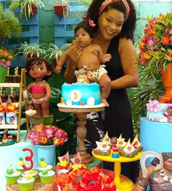 Juliana Alves comemora três meses da filha com festa inspirada em Moana