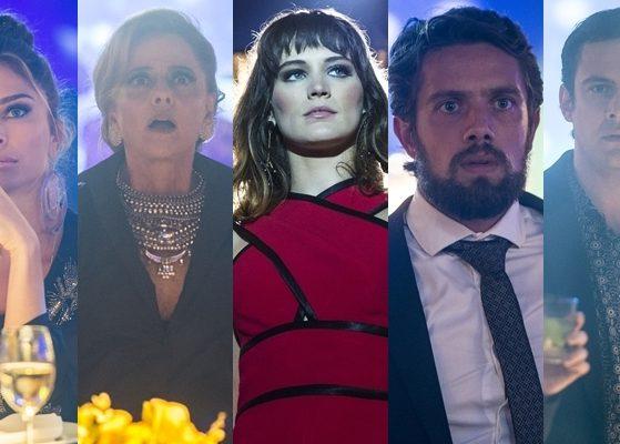 Clara (Bianca Bin) deixa todos chocados com seu retorno em O Outro Lado do Paraíso (Fotos: Globo/Raquel Cunha/Montagem TV Foco)