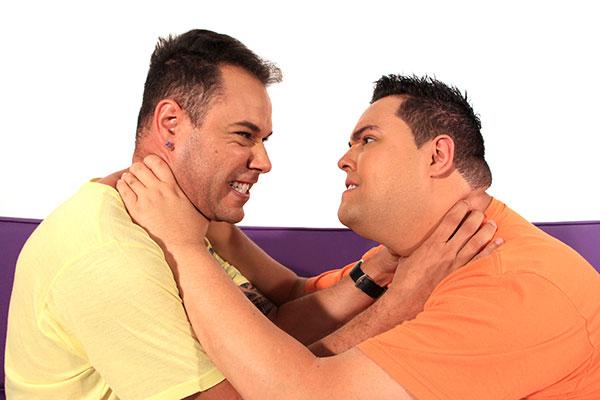 Tiago Barnabé, a Narcisa do Programa Eliana, e Fofoquito, repórter do Fofocalizando em novo programa do SBT (Foto: Reprodução)