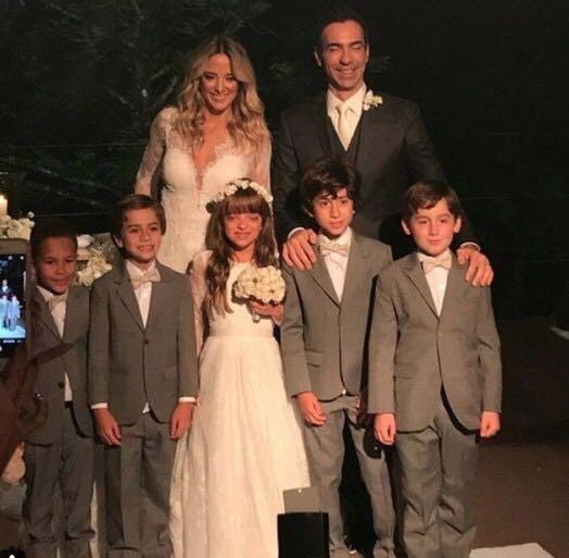 Famosos no casamento de Ticiane Pinheiro e Cesar Tralli (Foto reprodução)