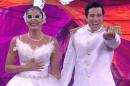 A atriz Maria Joana e seu professor, campeões da Dança dos Famosos do Faustão (Foto: Reprodução/Globo)