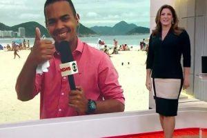 Christiane Pelajo. Foto do site da O TV Foco que mostra Após reclamar da Globo News, Christiane Pelajo comete gafe ao vivo