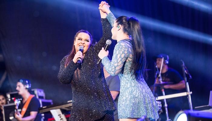Maiara e Maraisa durante show (Foto: Divulgação/Work Show)