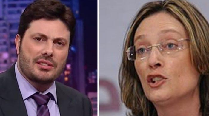 Danilo Gentili tem em Maria do Rosário seu maior desafeto na vida pública (Foto: Reprodução/Montagem)