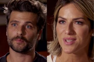 Bruno Gagliasso e Giovana Ewbank se emocionam no Fantástico ao falarem de ataques à filha