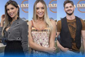 Fazenda Recorde. Foto do site da O TV Foco que mostra Enquete Fazenda semifinal: Flavia Viana, Monick Camargo e Marcos Harter quem deve ficar?
