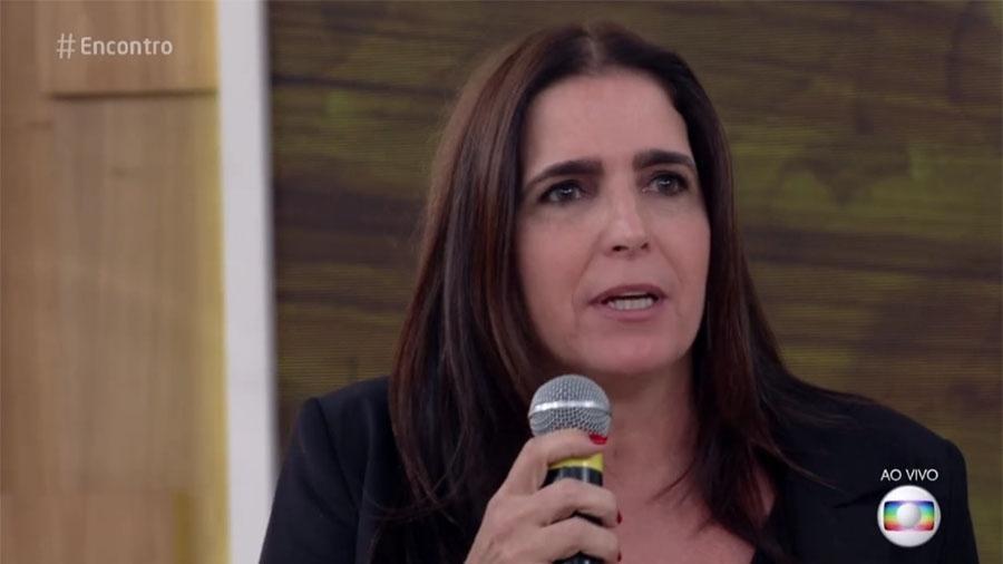 A atriz Malu Mader durante participação no Encontro (Foto: Reprodução/Globo)
