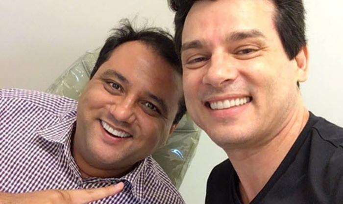Celso Portiolli ao lado de Geraldo Luís. (Foto: Reprodução)